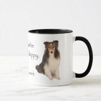 My Sheltie Makes Me Happy Mug