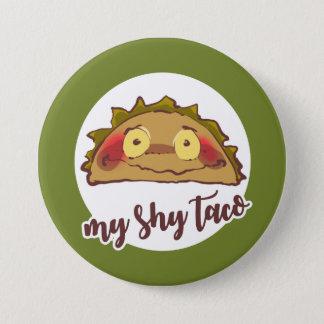 my shy taco funny cartoon 7.5 cm round badge