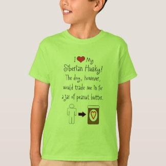 My Siberian Husky Loves Peanut Butter Tee Shirt