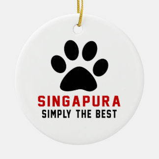My Singapura Simply The Best Double-Sided Ceramic Round Christmas Ornament