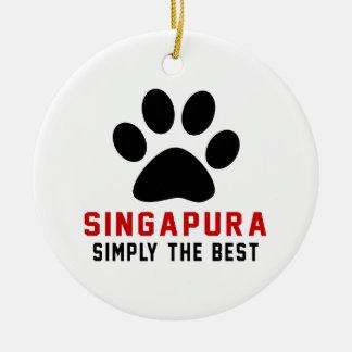 My Singapura Simply The Best Round Ceramic Decoration