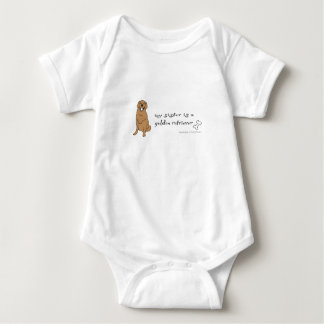 my sister is a golden retriever more breeds baby bodysuit