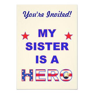 My Sister Is A Hero 13 Cm X 18 Cm Invitation Card