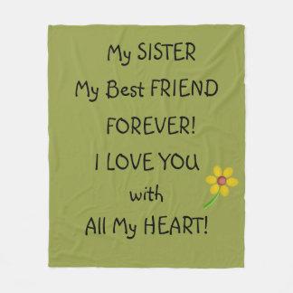 My SISTER My Best FRIEND Fleece Blanket