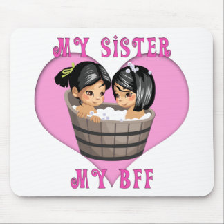My Sister MY BFF Bath Mouse Pad