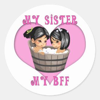 My Sister MY BFF Bath Round Sticker