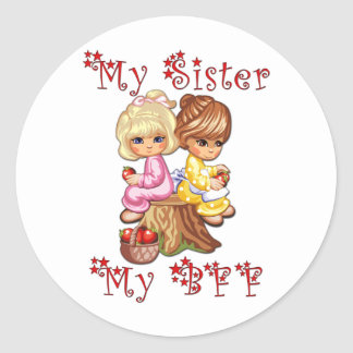 My Sister My BFF Round Sticker