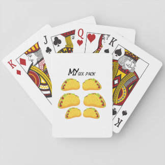 My Six Pack Funny Taco Fitness  Workout Gym Playing Cards