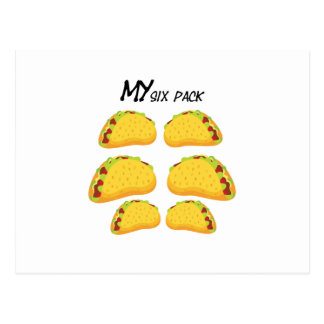 My Six Pack Funny Taco Fitness  Workout Gym Postcard