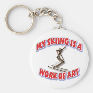 My Skiing Is A Work Of Art Key Ring