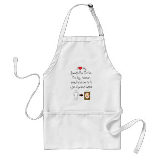 My Smooth Fox Terrier Loves Peanut Butter Adult Apron
