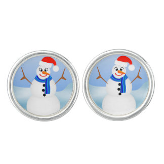 My Snowman by Julie Everhart Cufflinks