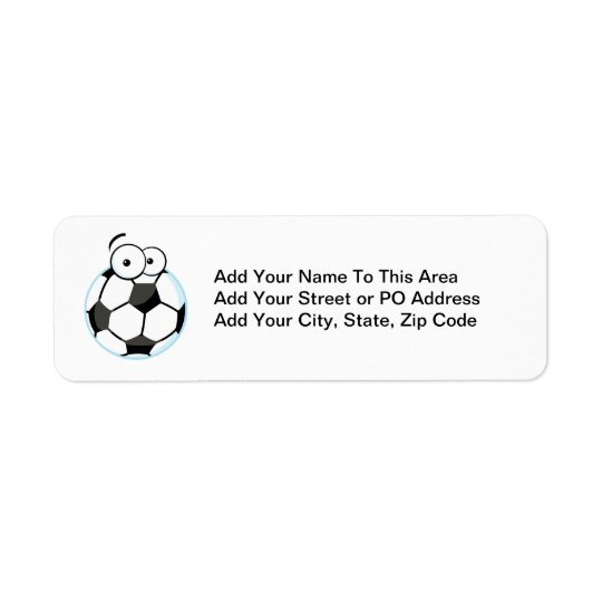 My Soccer Face T-shirts and Gifts Return Address Label