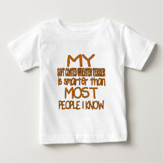 MY SOFT COATED WHEATEN TERRIER IS SMARTER THAN MOS BABY T-Shirt