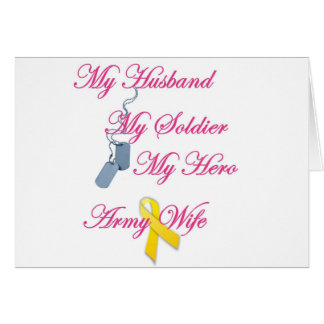My Soldier Army Wife Greeting Card