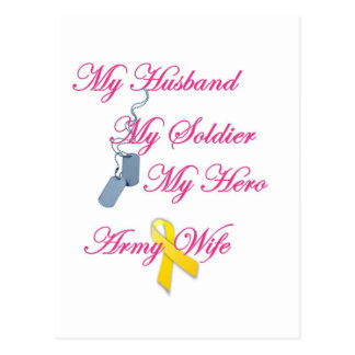 My Soldier Army Wife Post Card