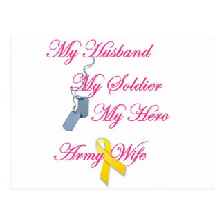 My Soldier Army Wife Postcard