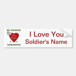 My Soldier, My Valentine Bumper Sticker