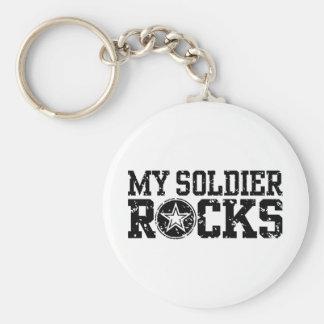 My Soldier Rocks Basic Round Button Key Ring