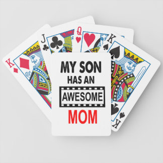 My Son Has An Awesome Mom Poker Deck