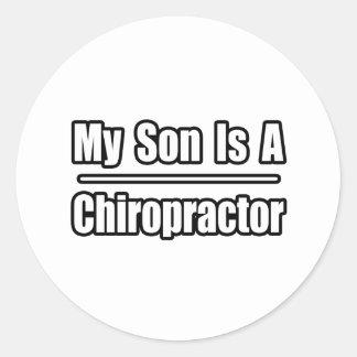 My Son Is A Chiropractor Round Sticker