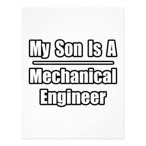 My Son Is A Mechanical Engineer Personalized Flyer