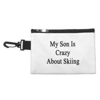 My Son Is Crazy About Skiing Accessories Bag
