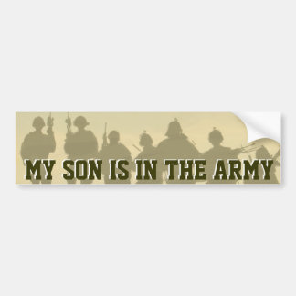 MY SON IS IN THE ARMY BUMPER STICKER