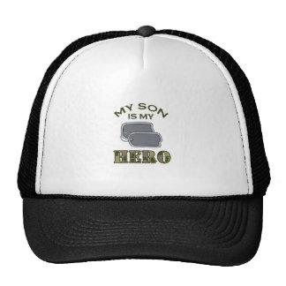 MY SON IS MY HERO TRUCKER HAT