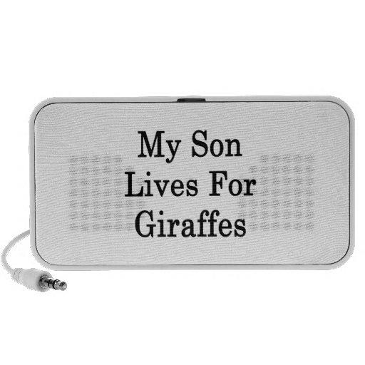 My Son Lives For Giraffes Portable Speakers
