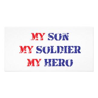 My son, my soldier, my hero photo card