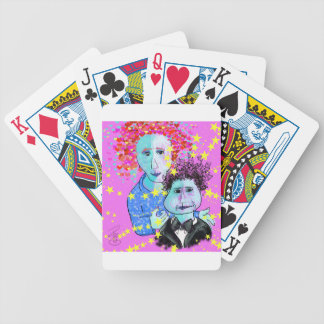 My son, the prodigy bicycle playing cards