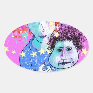 My son, the prodigy oval sticker
