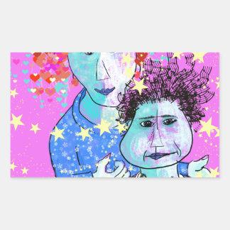 My son, the prodigy rectangular sticker