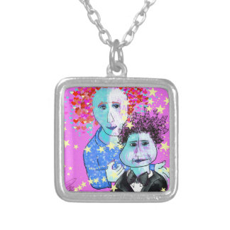 My son, the prodigy silver plated necklace
