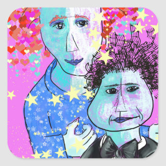 My son, the prodigy square sticker