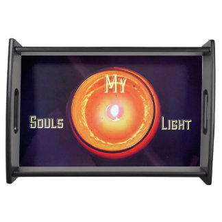 My Souls Light Peach Candle Tray Serving Trays