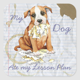 My Stafford Ate My Lesson Plan Square Sticker
