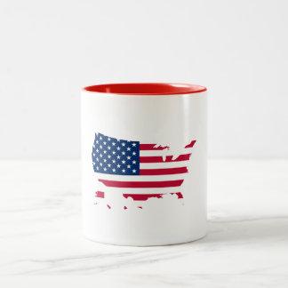 My Star Spangled Country Two-Tone Coffee Mug