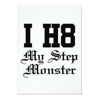 my step monster 13 cm x 18 cm invitation card