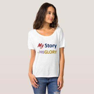 My Story is His Glory Boyfriend Tee