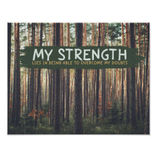 My Strength Poster
