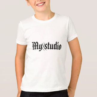 My studio tshirt with scratches