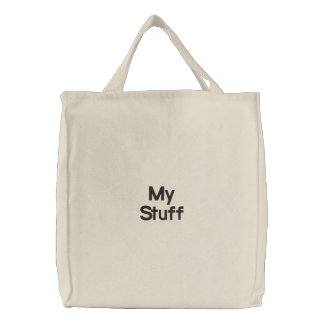 My Stuff Embroidered Tote Bag