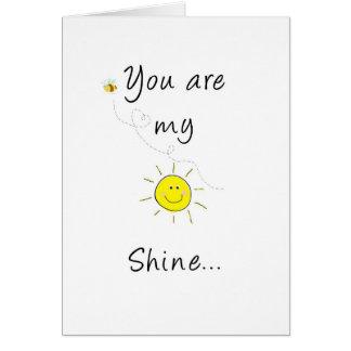 My sun shine card