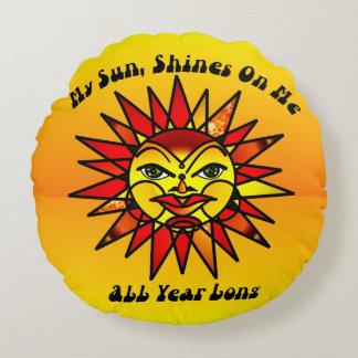 My Sun, Shines Round Cushion