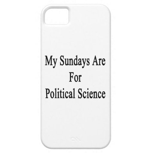 My Sundays Are For Political Science iPhone 5 Case