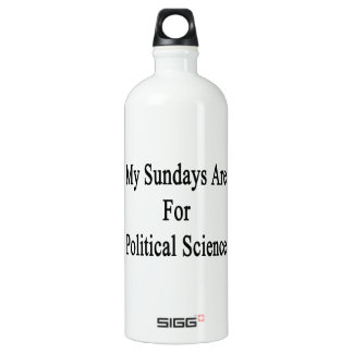 My Sundays Are For Political Science SIGG Traveller 1.0L Water Bottle