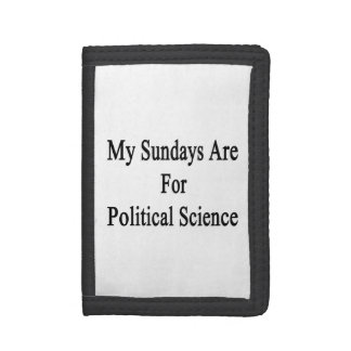 My Sundays Are For Political Science Trifold Wallet