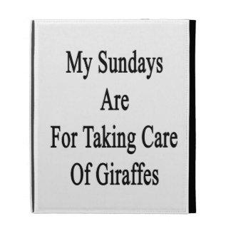 My Sundays Are For Taking Care Of Giraffes iPad Folio Cases